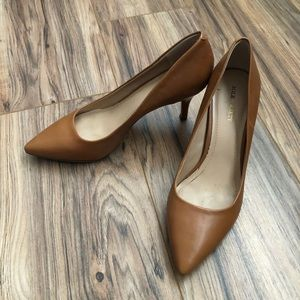 Sole Society Jeanette Leather Pumps Brown 9.5